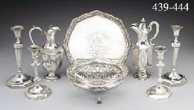 A Victorian Silver Claret Jug