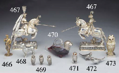 Two German Silver-gilt Figures