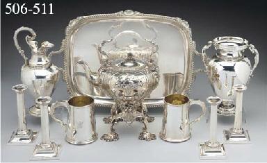 A Victorian Silver Tea Tray