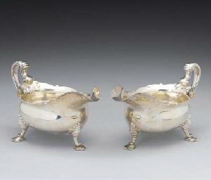 A Pair of Victorian Silver Sau