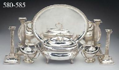 A Pair of George III Silver Sa