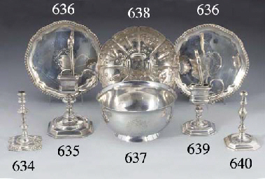 A Queen Anne Silver Taperstick