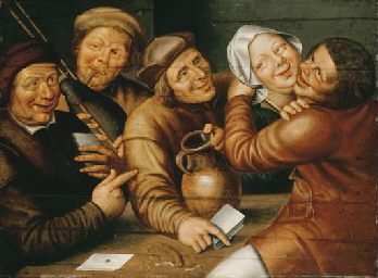Peasants carousing and playing