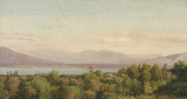 A view of Lake Geneva with the
