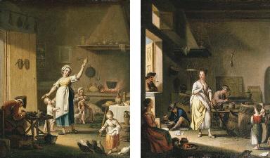 A cobbler's shop; and A cooper
