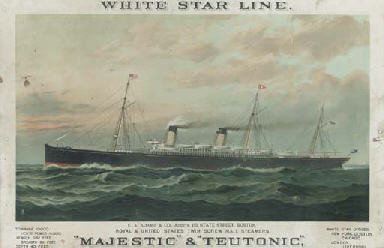 White Star Line  Majestic and