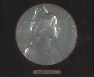 A large medallion of the Frenc