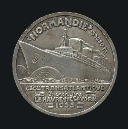 A silver maiden voyage medalli