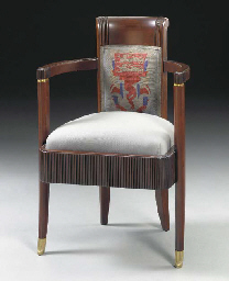 A Mahogany Open Armchair from