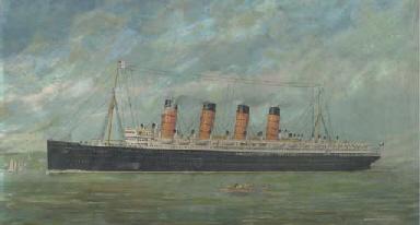 Cunard Line Lusitania-Mauretan