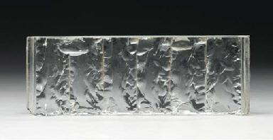 An abstract piece of art glass