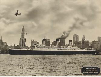 The M.V. Georgic in New York h