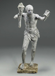A LEAD FIGURE OF A BLACKAMOOR