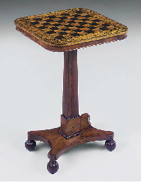 A LATE REGENCY ROSEWOOD AND PE