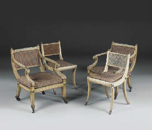 A PAIR OF REGENCY LATER CREAM-