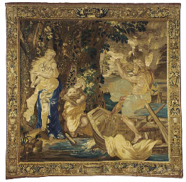 A LOUIS XIV BEAUVAIS TAPESTRY