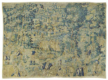 A FLEMISH GAME PARK TAPESTRY F