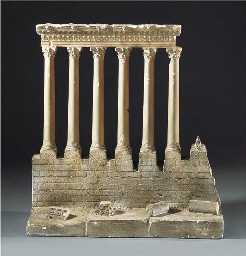 A PLASTER MODEL OF A TEMPLE