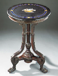 A PIETRA DURA AND ROSEWOOD OCC