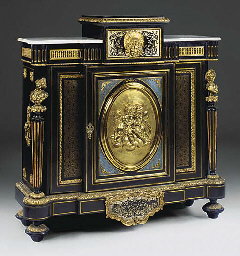 A FRENCH GILT METAL MOUNTED AN