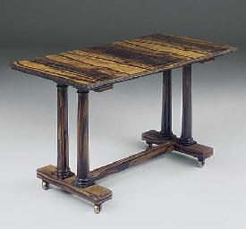 A COLONIAL EBONY, CENTRE TABLE