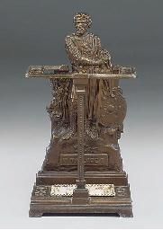 A SCOTTISH CAST IRON UMBRELLA