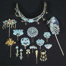 A COLLECTION OF FILIGREE HAIR ORNAMENTS