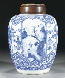 A blue and white jar, Kangxi