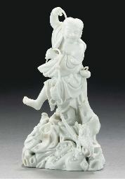 A blanc-de-chine model of Liu