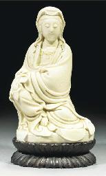 A blanc-de-chine model of Guan