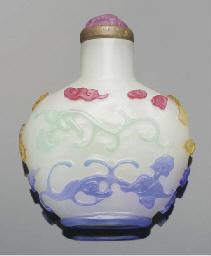 A four-colour overlay glass sn