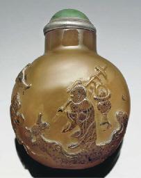 An agate snuff bottle, 19th ce