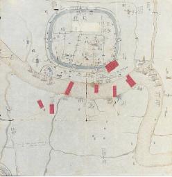 A siege campaign map, 19th cen