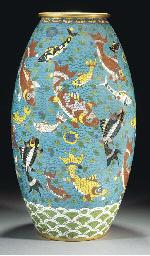 A large cloisonne vase, 18th C