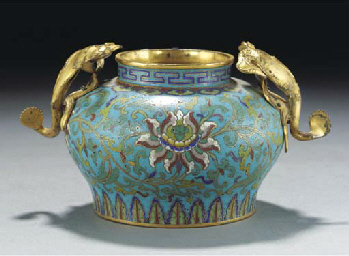 A cloisonne gobular jar, 18th