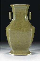 A teadust glazed hexagonal arr