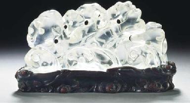 A glass brushrest, 18th/19th c