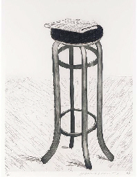 Steel Stool with Newspaper (C.