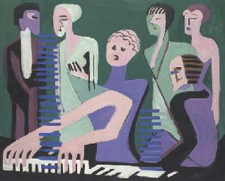 Cantatrice au piano or Pianist