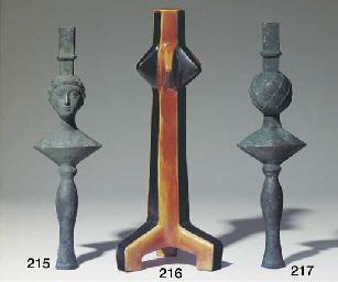 Lampe ou Chenet à tête de femm