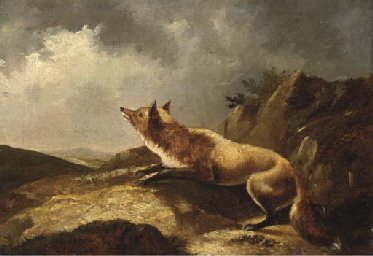 A fox in a landscape; and A do