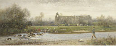 Otter hunting, Bolton Abbey