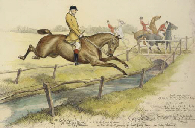 Lord Lonsdale jumping the Grea