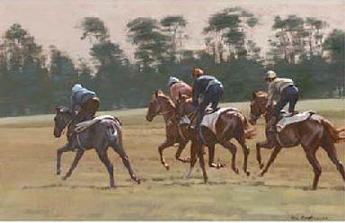 Winding up gallop, Newmarket