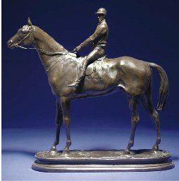 Fils, a racehorse with a jocke