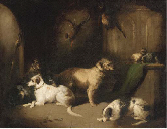 Hounds and terriers in a baron