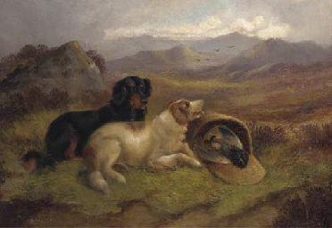 Gundogs with the day's bag