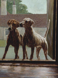 Hounds at a stable door