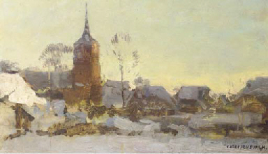 Laren in winter - a study