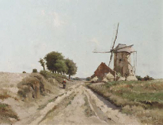 A peasant woman passing a wind